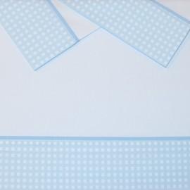 Sabanitas 3 piezas Cuadros Azul - mibebestore