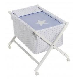 Minicuna tijeras Estrella Blanco/Azul Mibebestore
