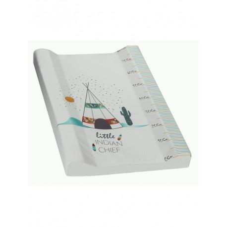 Cambiador Acolchado Plastificado - Modelo Indio Blanco 70cm