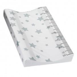 Cambiador Acolchado Plastificado - Modelo Estrellas gris 70 cm