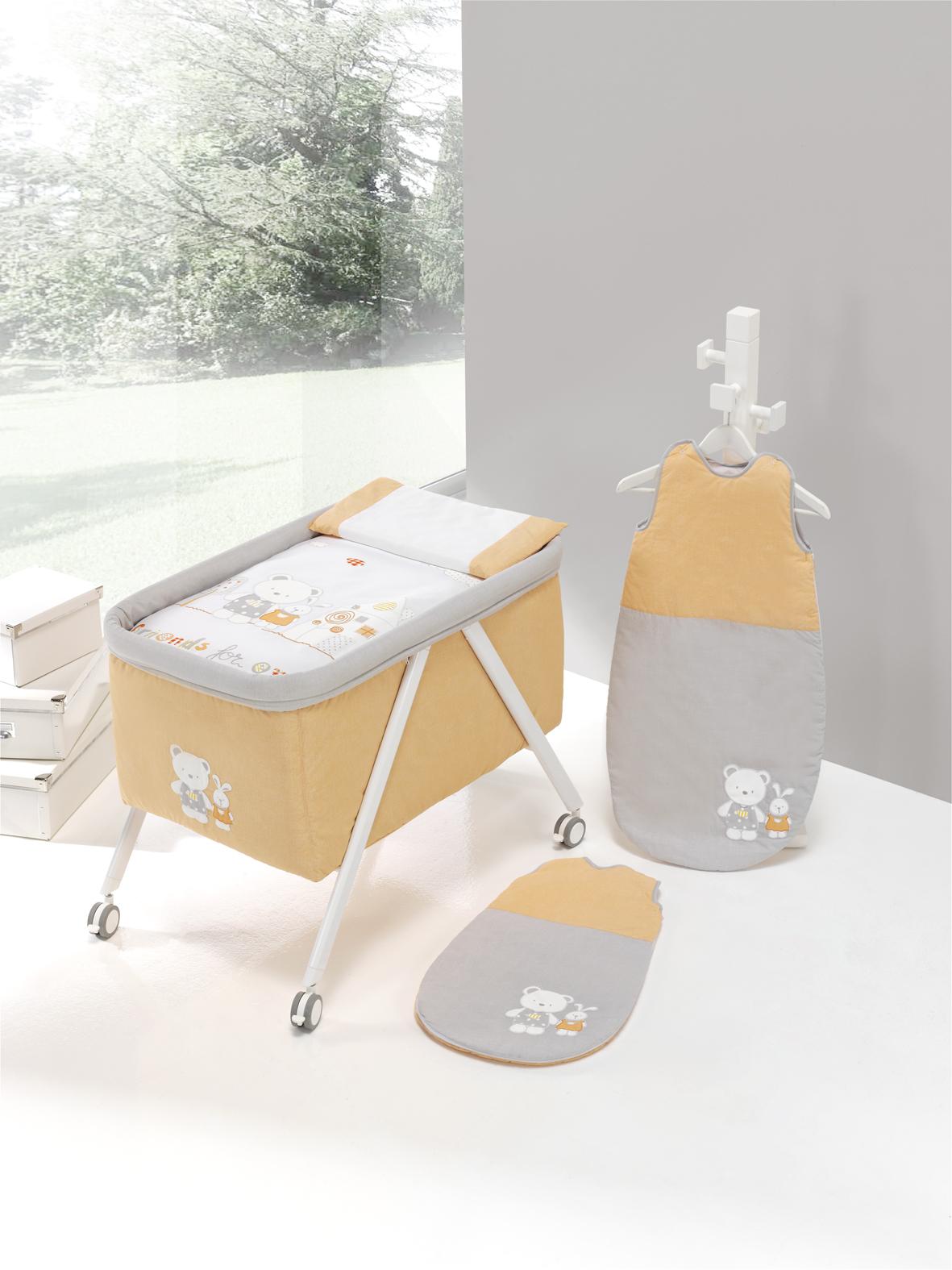 minicuna aluminio casita naranja