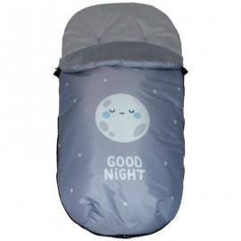 Saco Polar Universal Impermeable - mibebestore Modelo Good night azul