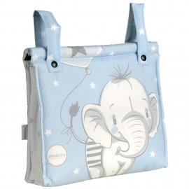 Talega Impermeable Mibebestore-Modelo Elefantino Azul