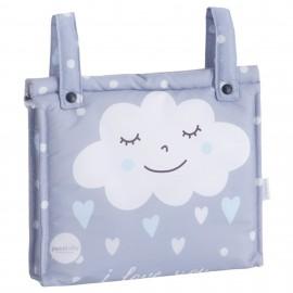 Talega Impermeable Mibebestore-Modelo Nuvola Azul