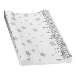 Cambiador Acolchado Plastificado - Modelo Estrellas gris 80 cm