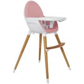 Trona Madera 2 en 1 Diseño Anatómico y Minimalista Rosa